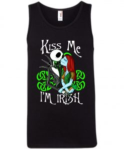 Jack Skellington Nightmare Kiss Me I Am Irish Tank Top Amazon Best Seller