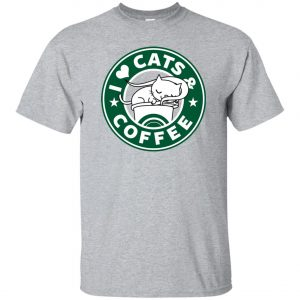 Love Cat And Starbucks Coffee Classic T-Shirt amazon best seller