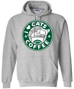 Love Cat And Starbucks Coffee Hoodie amazon best seller