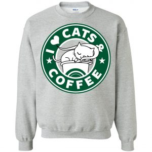Love Cat And Starbucks Coffee Sweatshirt amazon best seller