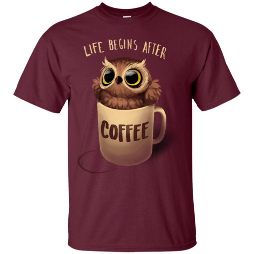 Owl Coffee Life Begins After Coffee Classic T-Shirt amazon best seller