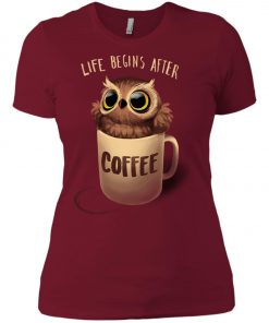 Owl Coffee Life Begins After Coffee Women's T-Shirt amazon best seller