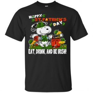 St Patricks Day Snoopy Eat Drink And Be Irish Classic T-Shirt Amazon Best Seller