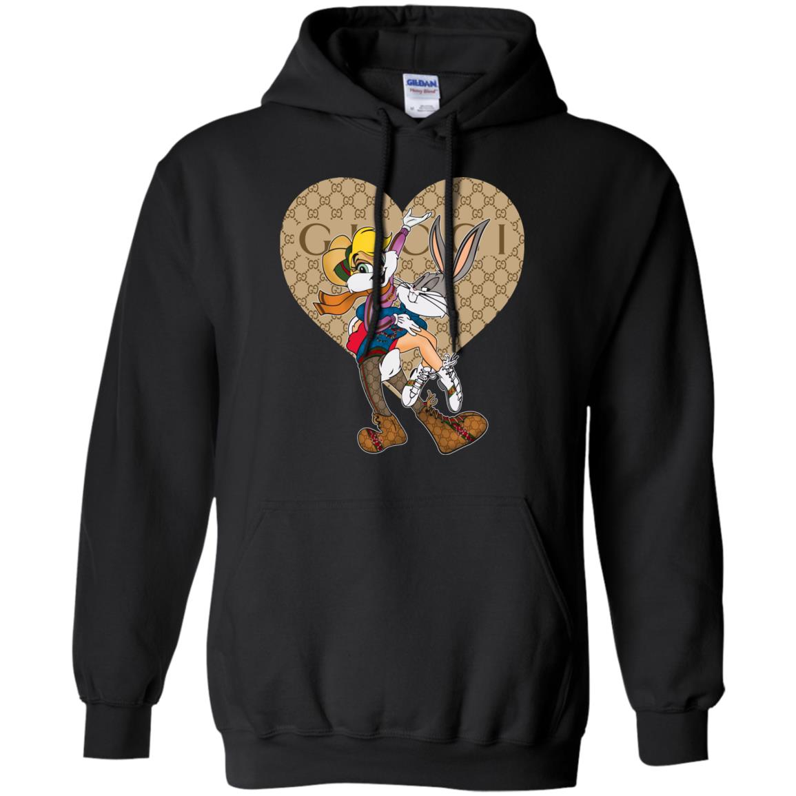 98400fbae69 Gucci Bugs Bunny And Lola Bunny Heart Hoodie - Shop Gucci x Disney