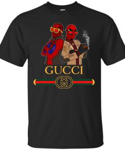 Gucci Stripe Spider Man And Deadpool Classic T-Shirt Amazon Best Seller