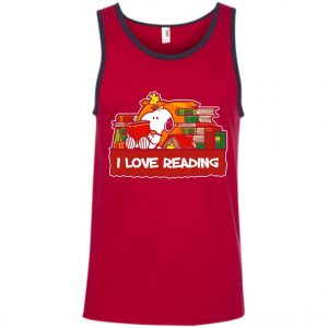 Snoopy Love Reading Tank Top