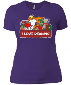 Snoopy Love Reading Women's T-Shirt