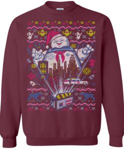 Stay Puft Marshmallow Santa Ugly Christmas Sweater