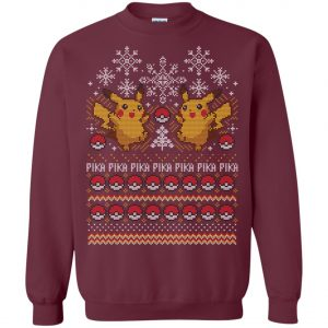 Pikachu Catch Them Ugly Christmas Sweater