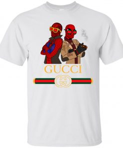 Gucci Stripe Spider Man And Deadpool Classic T-Shirt