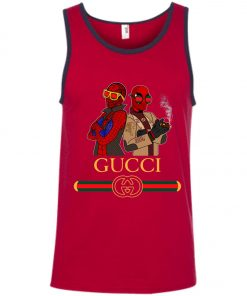Gucci Stripe Spider Man And Deadpool Tank Top