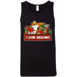 Snoopy Love Reading Tank Top Amazon Best Seller