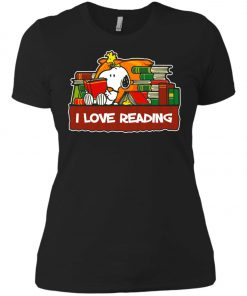 Snoopy Love Reading Women's T-Shirt Amazon Best Seller