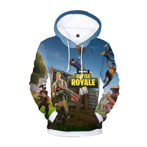 Fortnite Battle Royal Soldiers 3D Hoodie