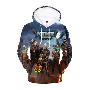 Fortnite Halloween Skeletons And Pumkin 3D Hoodie