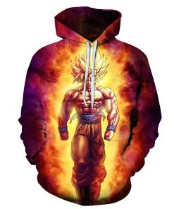 DragonBall SSJ3 Goku On Fire 3D Hoodie