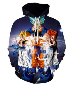 DragonBall SSJ3 Goku Full Version 3D Hoodie