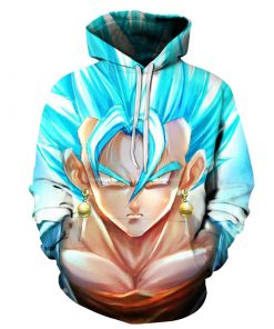 DragonBall Blue Saiyan Goku x Vegeta 3D Hoodies