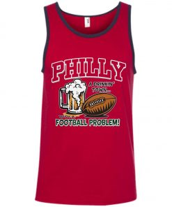 Philadelphia Eagles A Driking Town With A Football Problem Tank Top