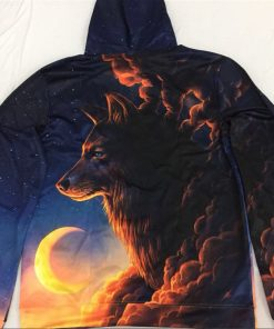 The Wolf And The Moon 3D Hoodie