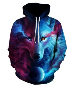 Moon Nightmare Wolf 3D Hoodie Amazon Best seller