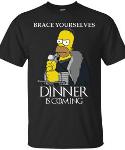 Hommer Simpson On Game Of Throne Dinner Is Coming Classic T-Shirt Amazon best Seller