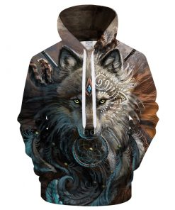 Dreamcatcher Wolf 3D Hoodie Amazon Best seller
