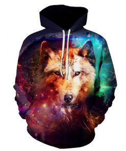 Galaxy Wolf 3D Hoodie Amazon Best seller