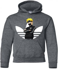 Naruto Adidas White Logo Youth Hoodie Amazon best Seller