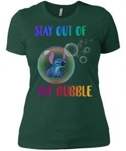 Disney Stitch Stay Out My Bubble Women's T-Shirt Amazon best Seller
