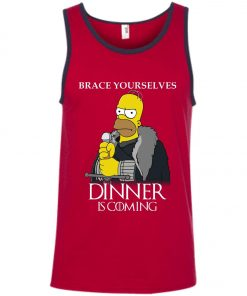 Hommer Simpson On Game Of Throne Dinner Is Coming Tank Top Amazon best Seller