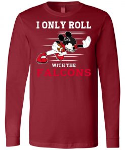 Atlanta Falcons Fanatics Mickey I Only Roll With Falcons Long Sleeve