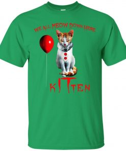 IT Horror Cats We All Meow Down Here Kitten Classic T-Shirt