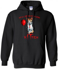IT Horror Cats We All Meow Down Here Kitten Hoodie Amazon Best seller