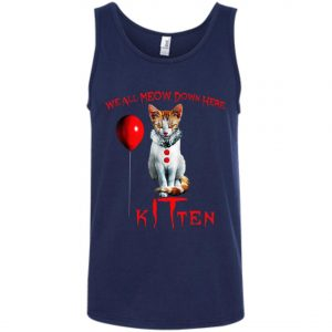 IT Horror Cats We All Meow Down Here Kitten Tank Top