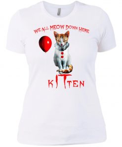 IT Horror Cats We All Meow Down Here Kitten Women's T-Shirt
