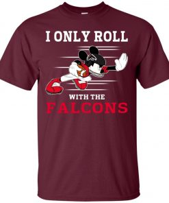 Atlanta Falcons Fanatics Mickey I Only Roll With Falcons Classic T-Shirt