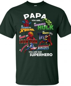 Papa You Are Superhero Marvel Fans Classic T-Shirt Amazon Best seller