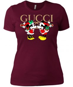 Gucci x Disney Mickey Christmas Women's T-Shirt Amazon Best seller