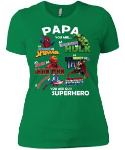Papa You Are Superhero Marvel Fans Women's T-Shir Amazon Best sellert