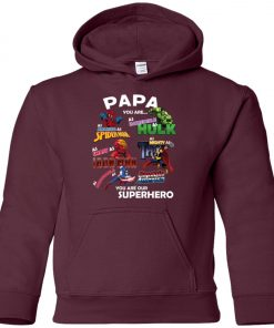 Papa You Are Superhero Marvel Fans Youth Hoodie Amazon Best seller