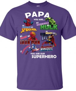 Papa You Are Superhero Marvel Fans Youth T-Shirt Amazon Best seller