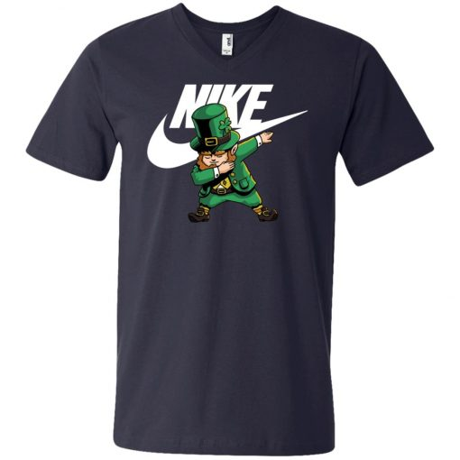 Uploaded ToNike Leprechaun Irish Dabbing V-Neck T-Shirt