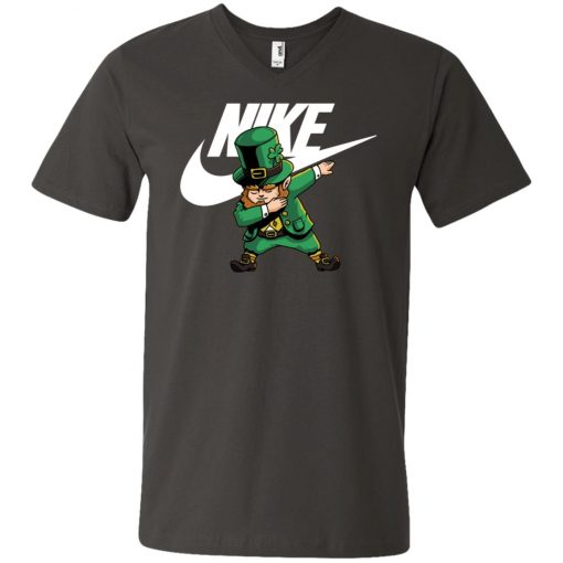 Uploaded ToNike Leprechaun Irish Dabbing V-Neck T-Shirt Amazon Best seller