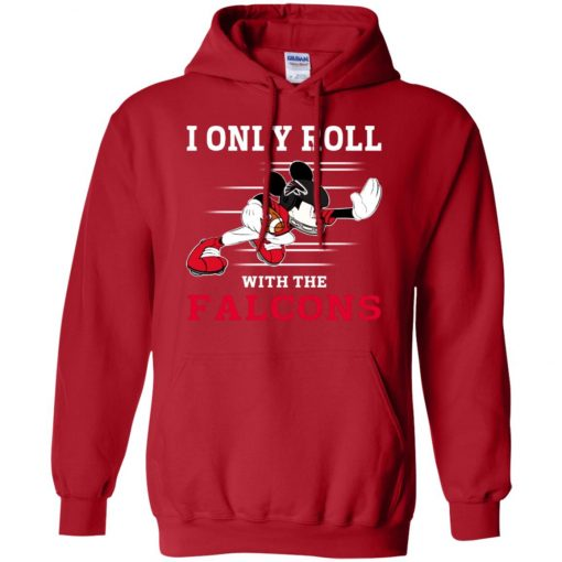 Atlanta Falcons Fanatics Mickey I Only Roll With Falcons Hoodie