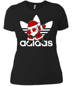 Adidas Santa Claus Dabbing Women's T-Shirt Amazon Best seller