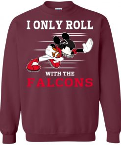 Atlanta Falcons Fanatics Mickey I Only Roll With Falcons Sweatshirt