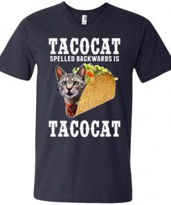 Tacocat Spelled Backwards Is Tacocat V-Neck T-Shirt