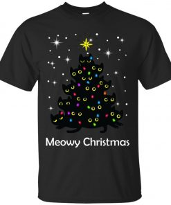 Meowy Christmas Cat Lover Christmas Tree Classic T-Shirt Amazon best Seller