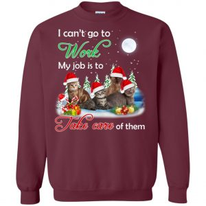 Cat Mom Job Is To Take Care Of Cats Sweatshirt Amazon best Seller